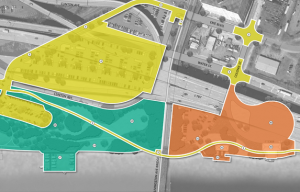 Focus areas of the Corning Preserve Master Plan