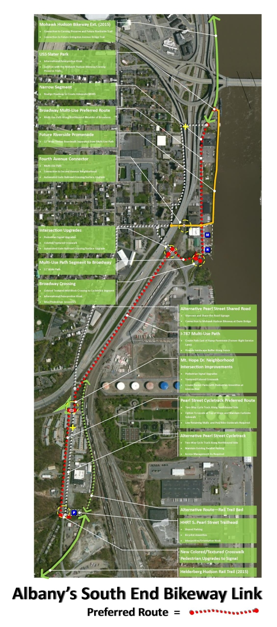 Proposed Route for the South End Bikeway Link